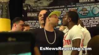 Adrien Broner vs. Paulie Malignaggi Heated Face-Off