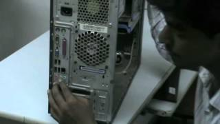 Jetking students showcases all the ports of the a motherboard and what purposes do these serve.