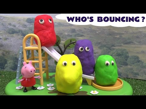 thomas - Peppa Pig's friends are all covered in Play Doh around the Muddy Puddles Park Playground. Thomas and Friends Percy collects the Play Doh Egg Surprises who seem to want to bounce around a lot...