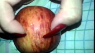Quellaguiar Attacking The Apple With Long Nails (video 8)