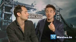 Robert Downey JR & Jude Law on the relationship between SHERLOCK HOLMES & WATSON (Game of shadows)