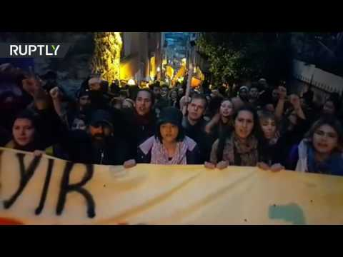 'No, we won!': Protesters gather in Istanbul against Turkey referendum results (видео)