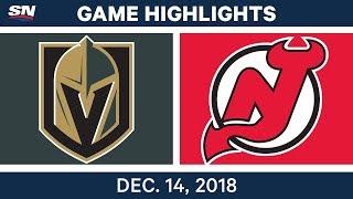 NHL Highlights | Golden Knights vs. Devils - Dec 14, 2018 by Sportsnet Canada