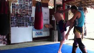 Training At Kobra Muay Thai Koh Phangan
