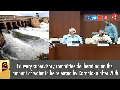 Cauvery-supervisory-committee-deliberating-on-the-amount-of-water-to-be-released-by-Karnataka