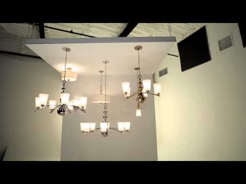 Video for Zelda Polished Nickel Three-Light Semi-Flush Light Fixture