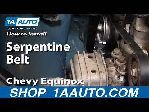 How To Install Replace Serpentine Belt Idler Pulleys Chevy Equinox 3.4L 05-09 1AAuto.com