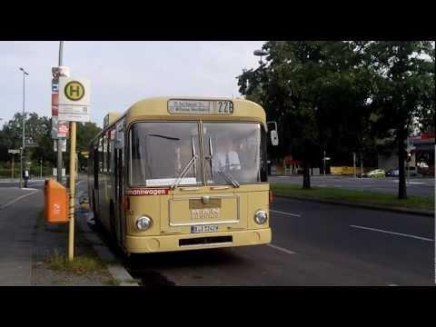 Ausfahrt vom MAN SL 200 an der Holzhauser Straße [720pHD]