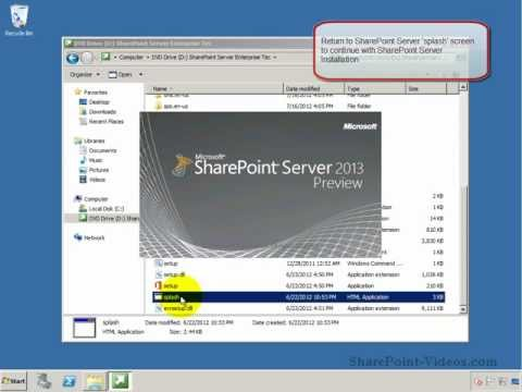 Installing SharePoint Server 2013 (Technical Preview)