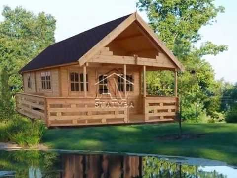 Log cabins for sale made in Europe | prefabricated houses made in europe | AVstatyba.lt