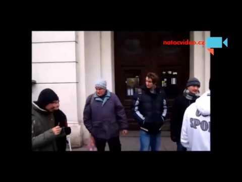 Blokáda Exekutorského úřadu v Brně 17.12.2013