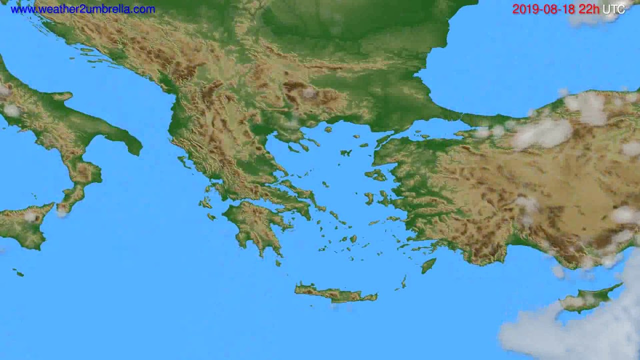 Cloud forecast Greece // modelrun: 00h UTC 2019-08-16