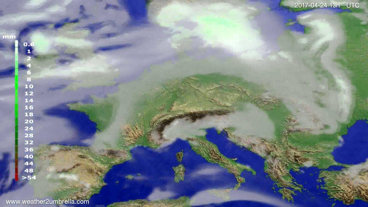 Precipitation forecast Europe 2017-04-21