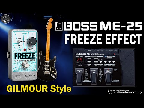 BOSS ME-25 DAVID GILMOUR Sound on Sound Effect [Freeze PATCH].