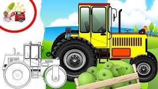 Раскрашки-анимашки. Трактор