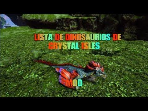 LISTADO DE DINOSAURIOS DEL MAPA IOS CRYSTAL ISLES (MOD) видео