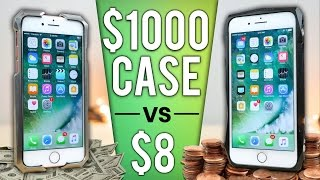 Video $8 iPhone Case vs $1000 Case DROP Test! MP3, 3GP, MP4, WEBM, AVI, FLV November 2017