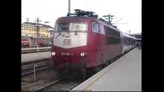 DB 103 192 1 at WESTBANHOF WIEN 1998