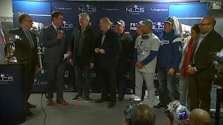 Dodgers Awarded NLCS Trophy | Dodgers vs Brewers NLCS Game 7
