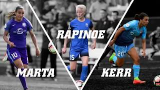 They finished 1-2-3 in the June Player of the Month voting. They are leading the Golden Boot race. They have showed no signs of slowing down in July. Here's everything you need to know about three midseason MVP candidates: Sky Blue FC forward Sam Kerr, Orlando Pride forward Marta and Seattle Reign FC forward Megan Rapinoe.