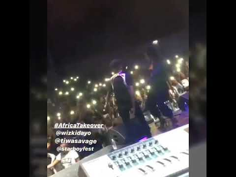 Tiwasavage and wizkid performance at (Paris-france starboy fest)