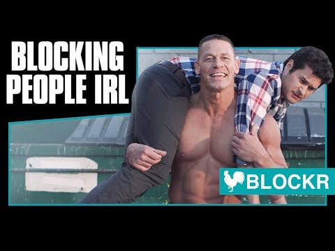 Blockr - The App for Blocking People IRL with John Cena (видео)