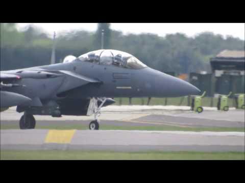 Roaring Footage of blasting F-15s at RAF Lakenheath!