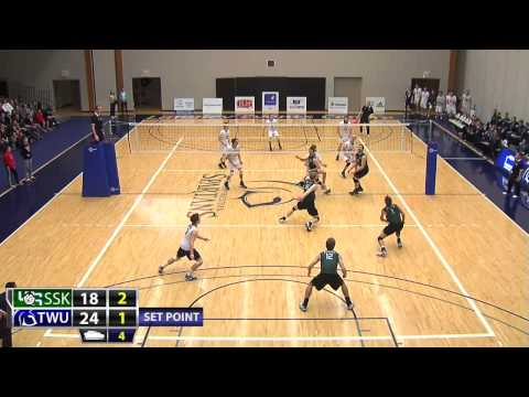 2015-01-31 TWU Men's Volleyball Highlights vs Saskatchewan