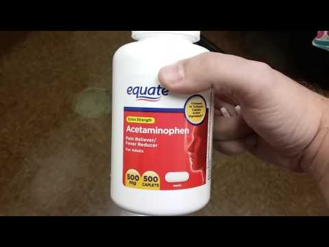 FUNNY Acetaminophen (Tylenol) CAUTION / Equate Brand (Walmart)