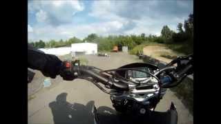 10. Husqvarna SM 610 ie on Supermoto Track + Offroad (GoPro)
