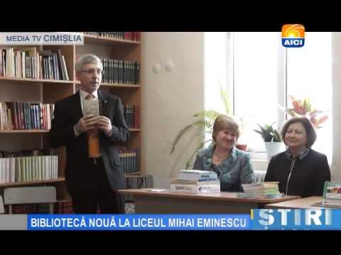 BIBLIOTECĂ NOUĂ LA LICEUL MIHAI EMINESCU
