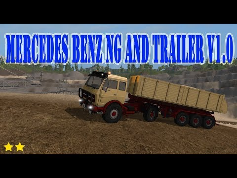 Mercedes Benz NG and trailer v1.0