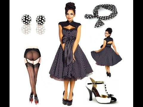 Petticoat Kleid in schwarz mit weißen Polka Dots + Outfit Tipps
