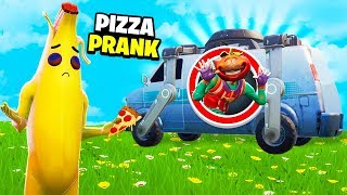 So I gave everyone FREE PIZZA in Playgrounds... (Fortnite Pranks)