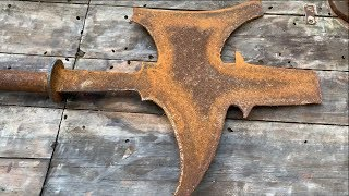Video Restoration a axe sword old | Restore metal castings ax sword | Restore China sword ax MP3, 3GP, MP4, WEBM, AVI, FLV Mei 2019