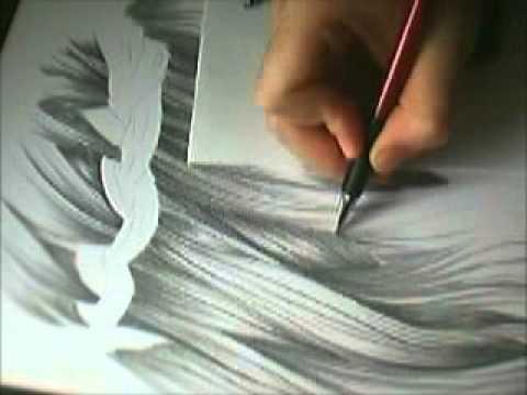 How to draw realistic hair // Wie man realistische Haare zeichnet…