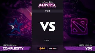 [RU] compLexity vs Young Drug Gaming, Game 2, StarLadder ImbaTV Dota 2 Minor S2 NA Qualifiers