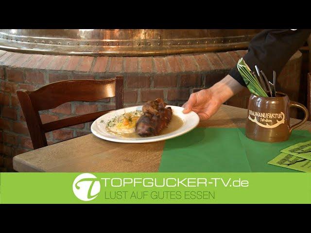 Halbe Ente auf Maronen- Kartoffel-Püree   Rezeptempfehlung Topfgucker-TV