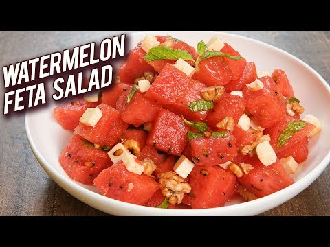 Watermelon Feta Salad Recipe – Summer Special Recipe – Homemade Watermelon & Feta Salad – Bhumika