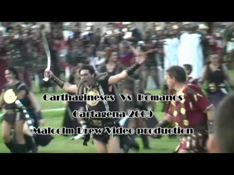 BATALLA(THE - Fiesta at the Port of Cartagena on the 25th September 2009 recreating the capture of the city in 209 BC by the Roman troops of Scipio. Romans v Carthaginians...