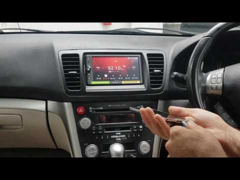 Subaru Legacy/ Outback audio navigation replacement (Panasonic Strada)