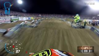 Watch Mitchell Oldenburgs Main Event from round 17 of the 2017 Monster Energy Supercross Series in Las Vegas, Nevada Shot 100% on the HERO5® camera from http...