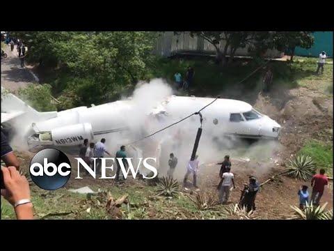 Americans' private plane breaks in half in Honduras