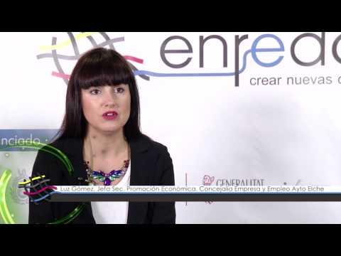 Luz Gómez de la Concejalía de Empresa y Empleo del Ayto. de Elche en #EnredateElx 2014