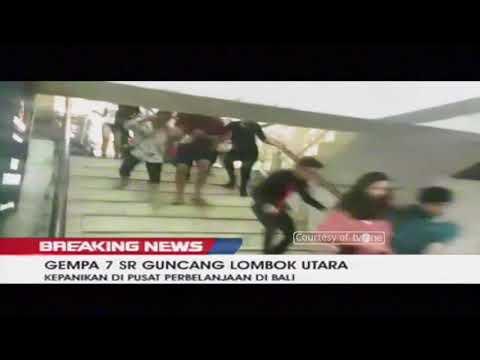 Detik-Detik Gempa 7 SR Guncang Lombok Hingga ke Bali, Berpotensi Tsunami