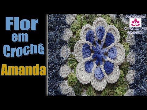 Passo a passo Flor em Crochê Amanda  - Professora Simone