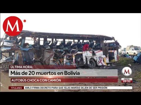 Al menos 24 muertos tras accidente de tránsito en Bolivia (VIDEO)
