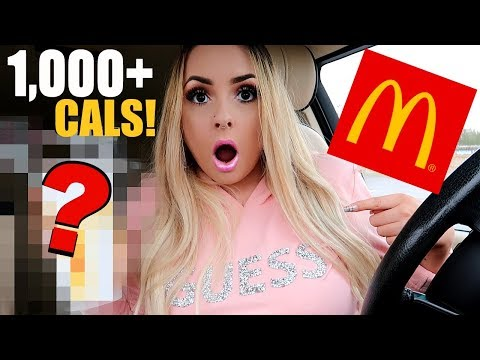 I Bought The HIGHEST CALORIE Item At MCDONALDS!!