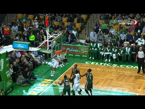 Avery Bradley Sinks the AMAZING Behind-the-Backboard Shot