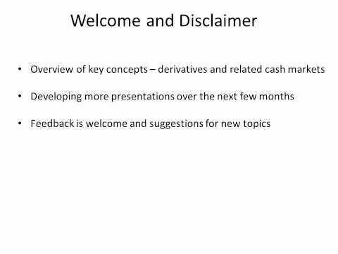 Welcome and disclaimer (видео)